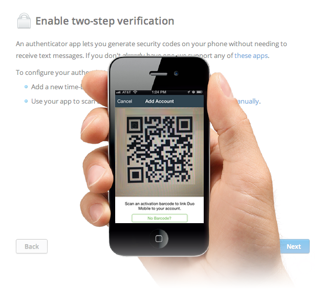 how to get google account barcode