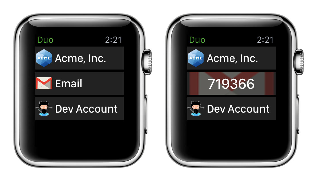 Generate a Passcode on Apple Watch