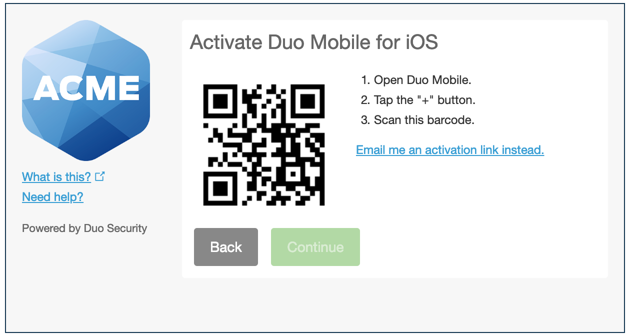 Reactivate Duo Mobile