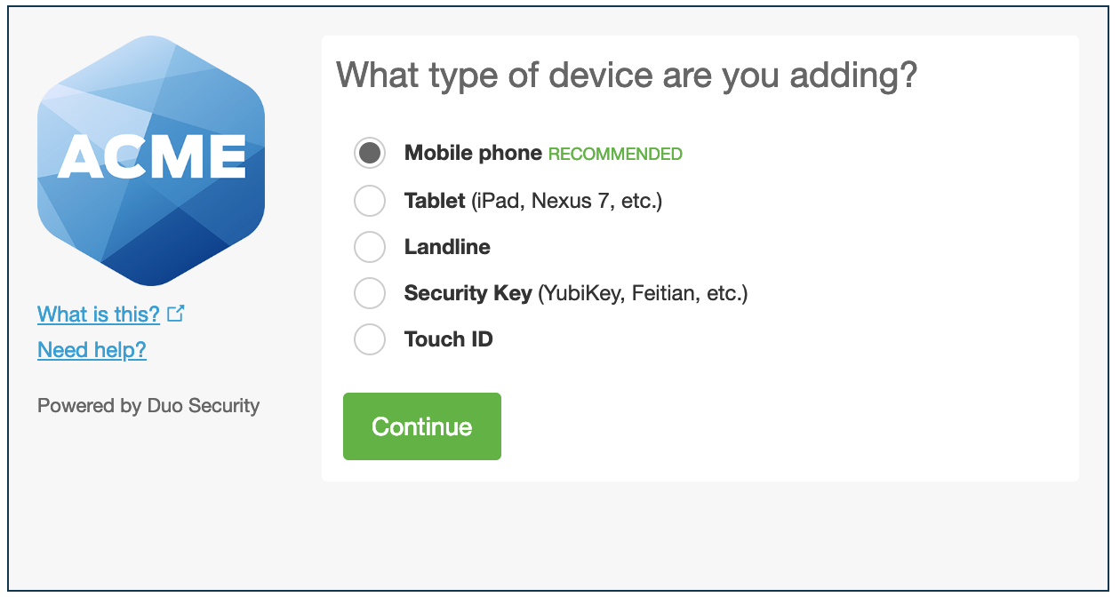 Select Device Type