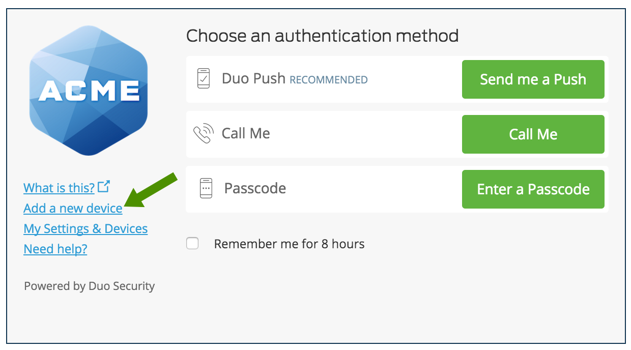 Add a New Device - Guide to Two-Factor Authentication · Duo Security