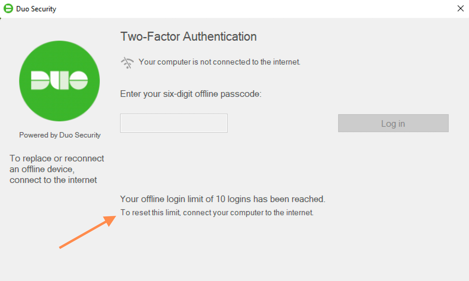 Duo Offline Authentication Limits